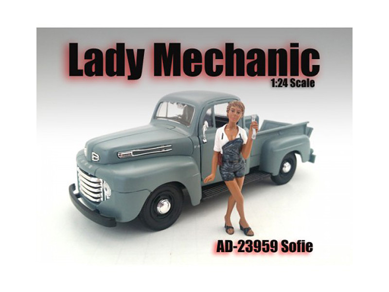 Lady Mechanic Sofie Figure For 1:24 Scale Models American Diorama 23959