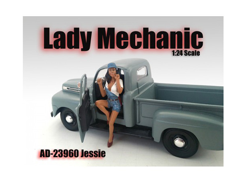 Lady Mechanic Jessie Figure For 1:24 Scale Models American Diorama 23960