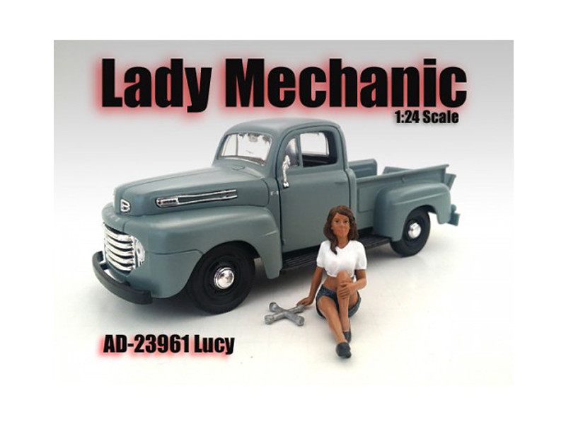 Lady Mechanic Lucy Figure For 1:24 Scale Models American Diorama 23961