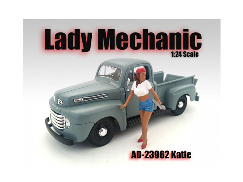 Lady Mechanic Katie Figure For 1:24 Scale Models American Diorama 23962