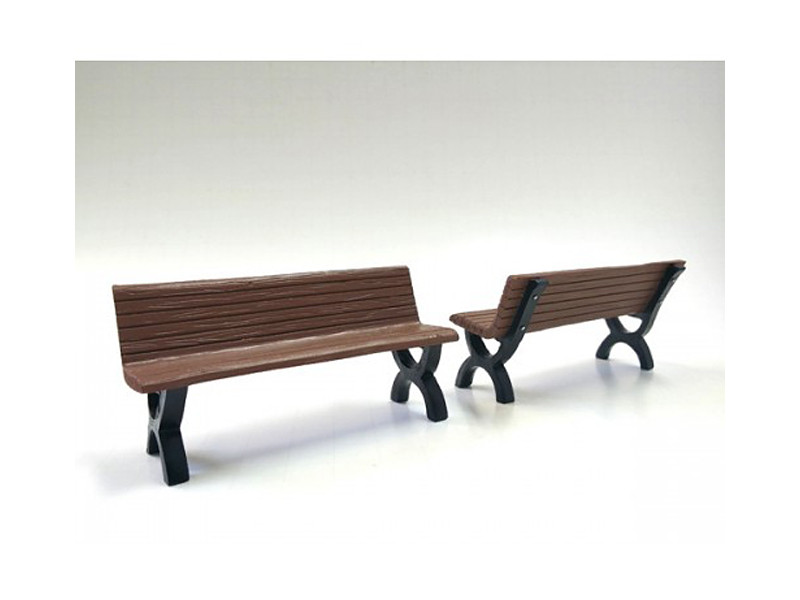 Bench Accessory 2 Pieces Set for 1:18 Scale Models American Diorama 23982