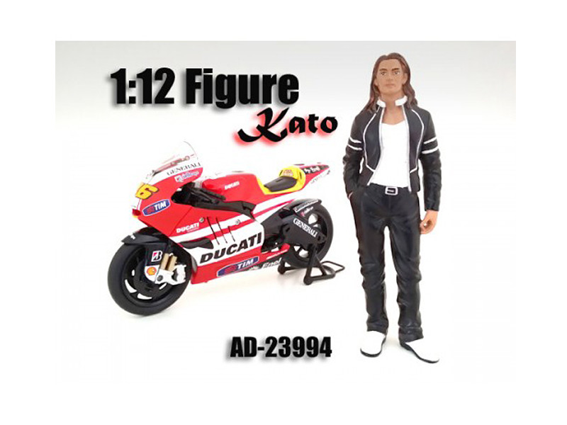 Biker Kato Figure / Figure For 1:12 Scale Motorcycles American Diorama 23994