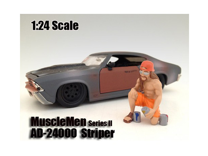 "Musclemen ""Striper"" Figure For 1:24 Scale Models American Diorama 24000"