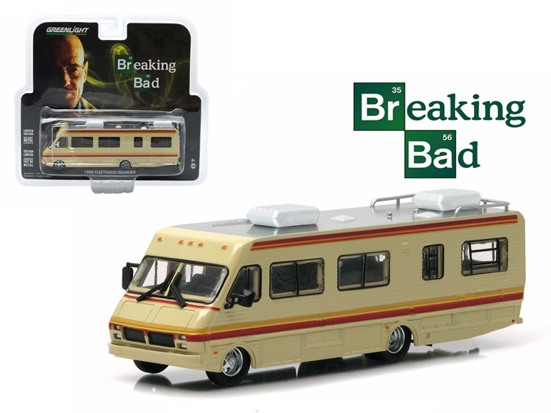 1986 Fleetwood Bounder RV Breaking Bad 2008 2013 TV Series 1/64 Diecast Model Greenlight 33021