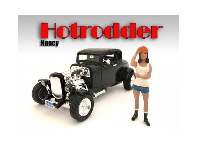 """Hotrodders"" Nancy Figure For 1:18 Scale Models American Diorama 24008"
