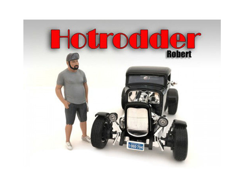 """Hotrodders"" Robert Figure For 1:24 Scale Models American Diorama 24029"