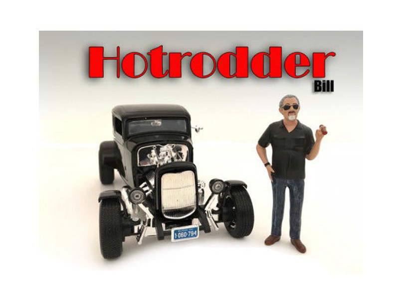 """Hotrodders"" Bill Figure For 1:24 Scale Models American Diorama 24030"