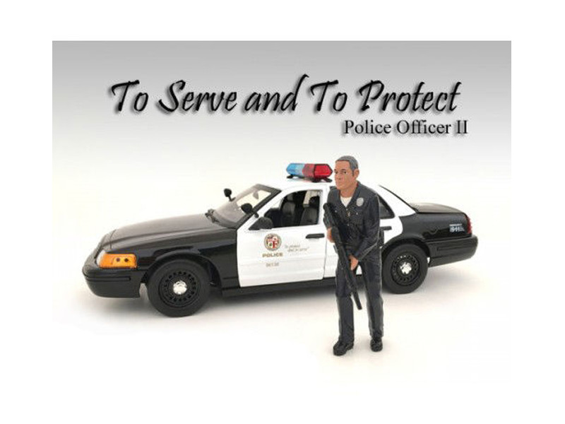 Police Officer II Figure For 1:24 Scale Models American Diorama 24032