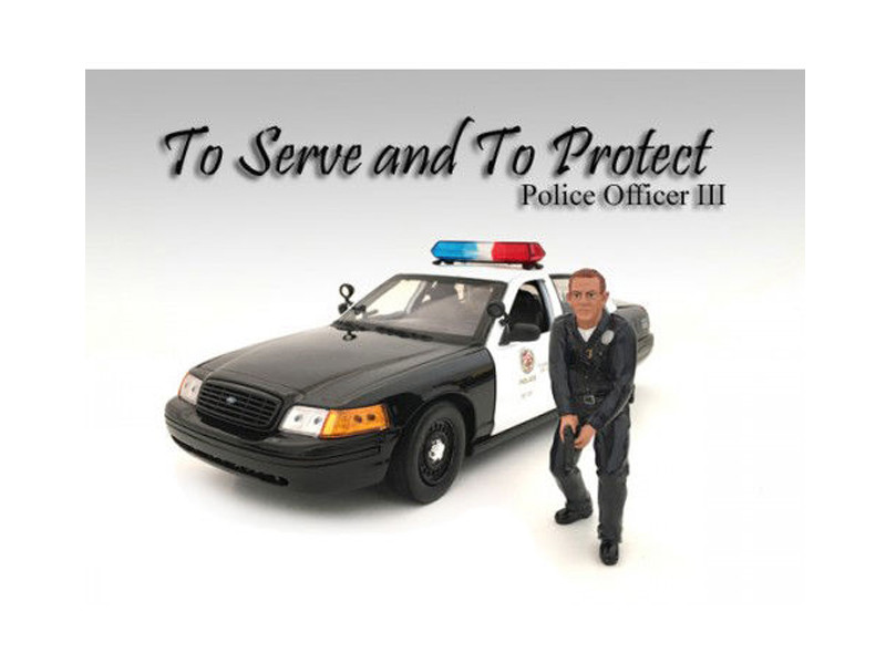 Police Officer III Figure For 1:24 Scale Models American Diorama 24033
