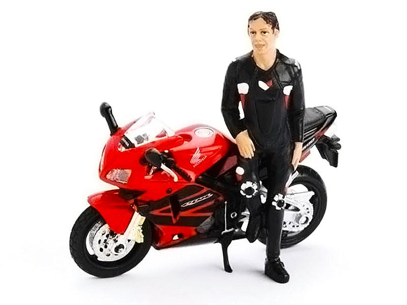 Biker Ryan Figure For 1:18 Diecast Models American Diorama 77708
