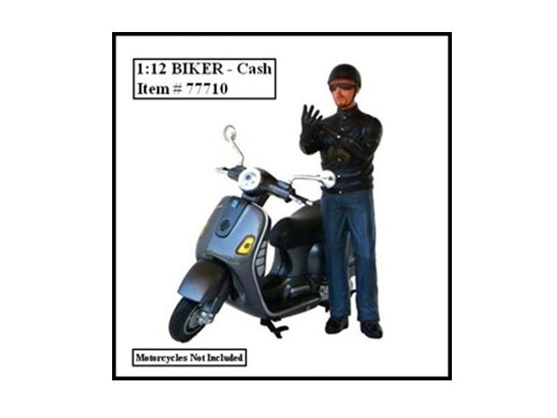 Biker Cash Figure For 1:12 Models American Diorama 77710