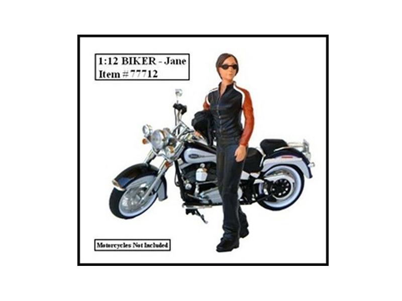 Biker Jane Figure For 1:12 Models American Diorama 77712