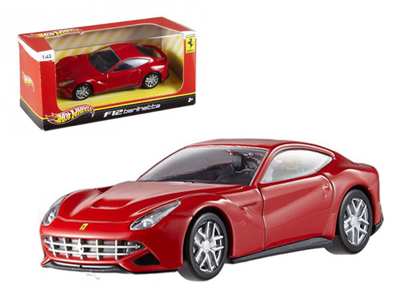 Ferrari F12 Berlinetta Red 1/43 Diecast Car Model by Hotwheels