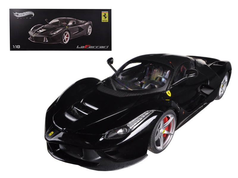 Ferrari Laferrari F70 Hybrid Elite Edition Black 1/18 Diecast Car Model Hotwheels BCT80