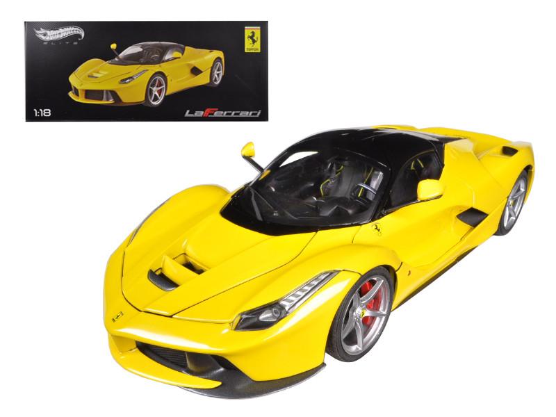 Ferrari Laferrari F70 Hybrid Elite Edition Yellow 1/18 Diecast Car Model Hotwheels BCT81