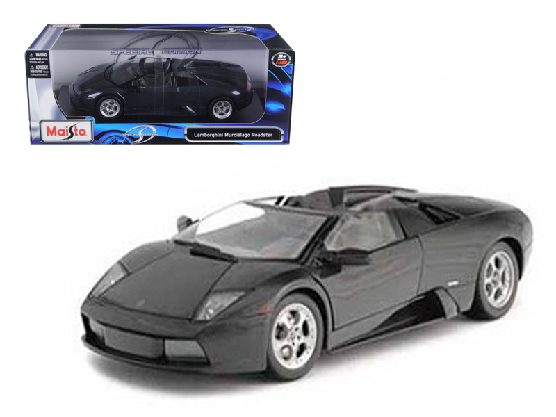 Lamborghini Murcielago Roadster Black 1/18 Diecast Model Car Maisto 31636
