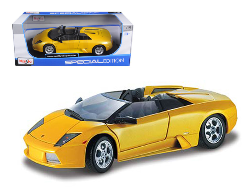 Lamborghini Murcielago Roadster Yellow 1/18 Diecast Model Car Maisto 31636