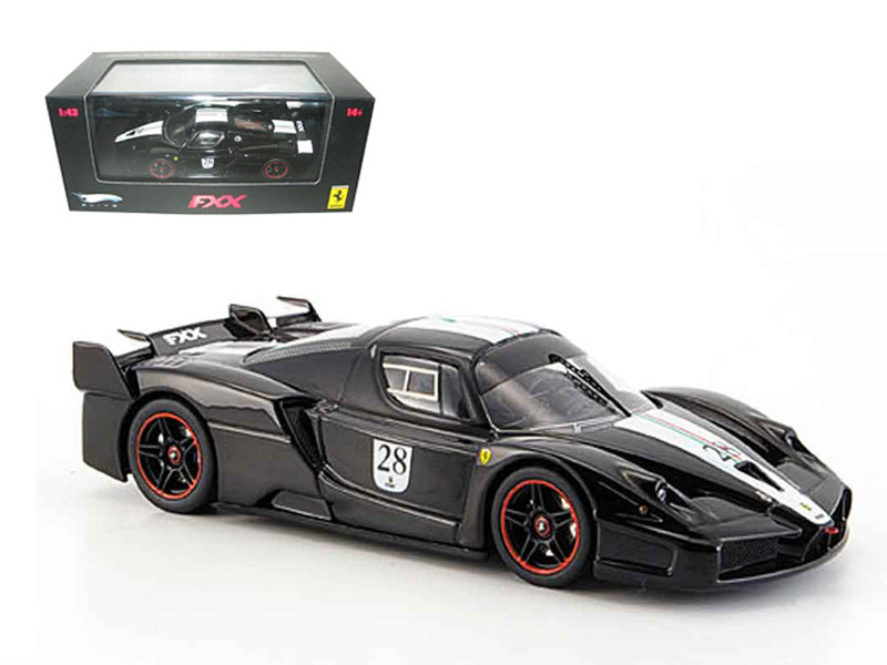 Ferrari Enzo FXX Diecast Car Model Black #28 Elite Limited Edition 1/43 Diecast Model Car Hotwheels N5608