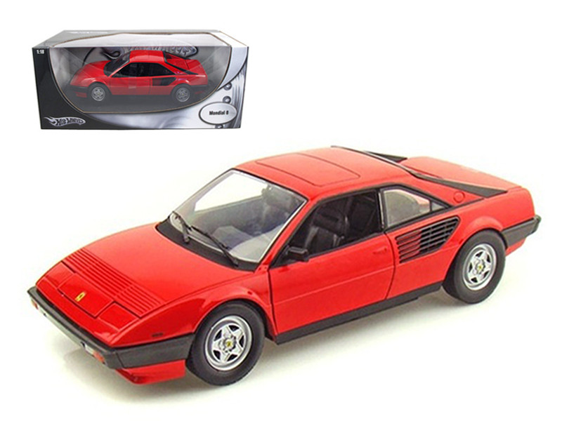 Ferrari Mondial 8 Red 1/18 Diecast Model Car by Hotwheels