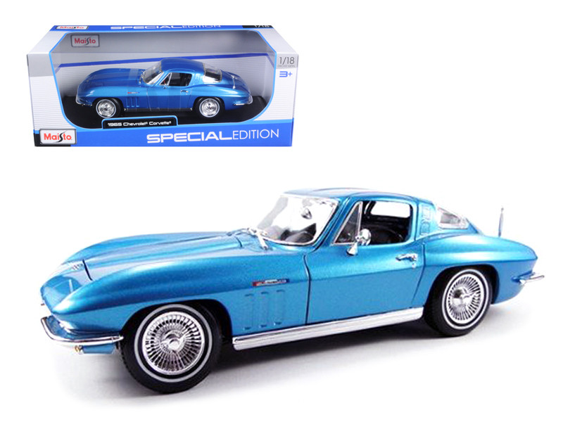 1965 Chevrolet Corvette Blue 1/18 Diecast Model Car Maisto 31640