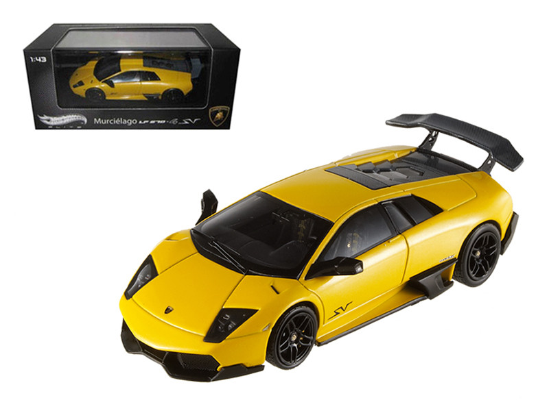 Lamborghini Murcielago LP 670-4 SV Yellow Elite Edition 1/43 Hotwheels T6934