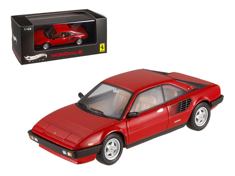 Ferrari Mondial 8 Red Elite Edition Limited Edition 1 of 5000 Produced Worldwide 1/43 Diecast Model Car Hotwheels V8381