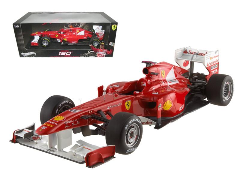 Ferrari 150 Italia Fernando Alonso 2011 Turkish GP Elite Edition 1/18 Diecast Model Car Hotwheels W1198