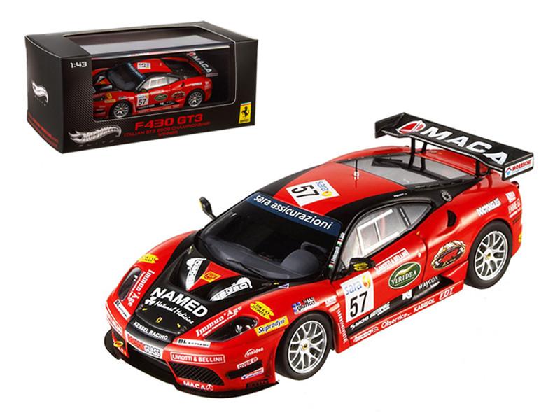 Ferrari F430 GT3 #57 Italian GT3 2009 Championship Winner Elite Edition 1/43 Diecast Model Car by Hotwheels