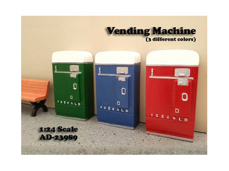 1 Piece Vending Machine Accessory Diorama Green For 1:24 Scale Models American Diorama 23989 G