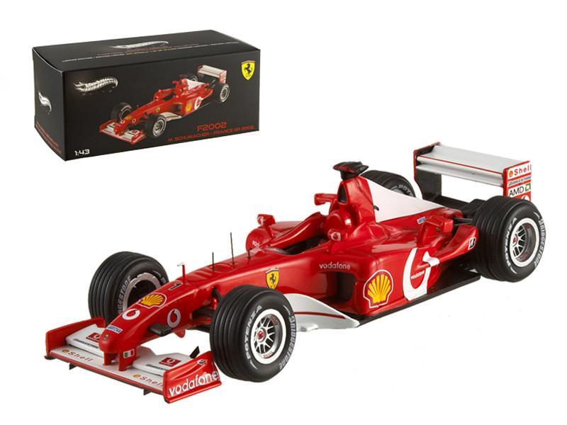 Ferrari F2002 Michael Schumacher France GP 2002 Elite Edition 1/43 Diecast Model Car Hotwheels X5513