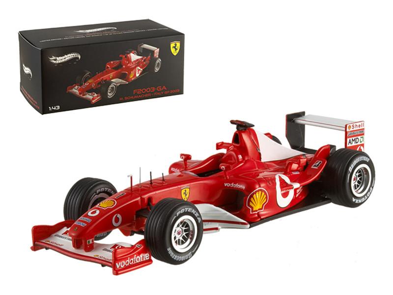Ferrari F2003 Michael Schumacher Italy GP 2003 Elite Edition 1/43 Diecast Model Car by Hotwheels