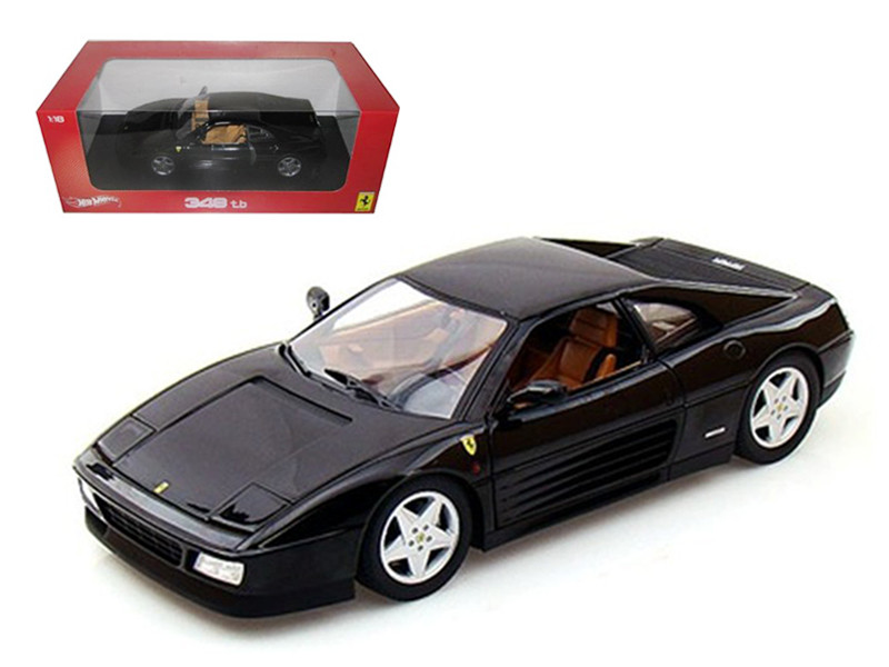 Ferrari 348 TB Black 1/18 Diecast Car Model Hotwheels X5530