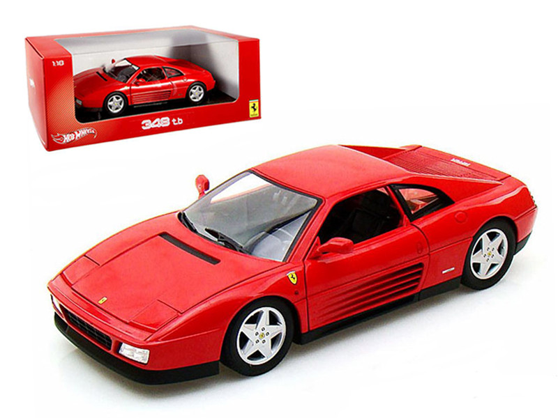 Ferrari 348 TB Red 1/18 Diecast Car Model Hotwheels X5532