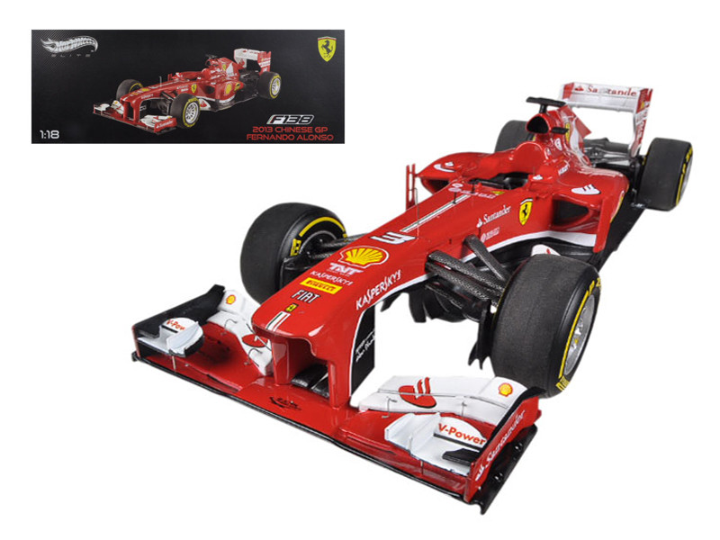 Ferrari F1 F138 Fernando Alonso China GP 2013 Elite Edition 1/18 Diecast Car Model Hotwheels BCT82
