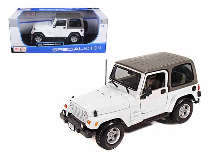 Jeep Wrangler Sahara White 1/18 Diecast Model Car Maisto 31662
