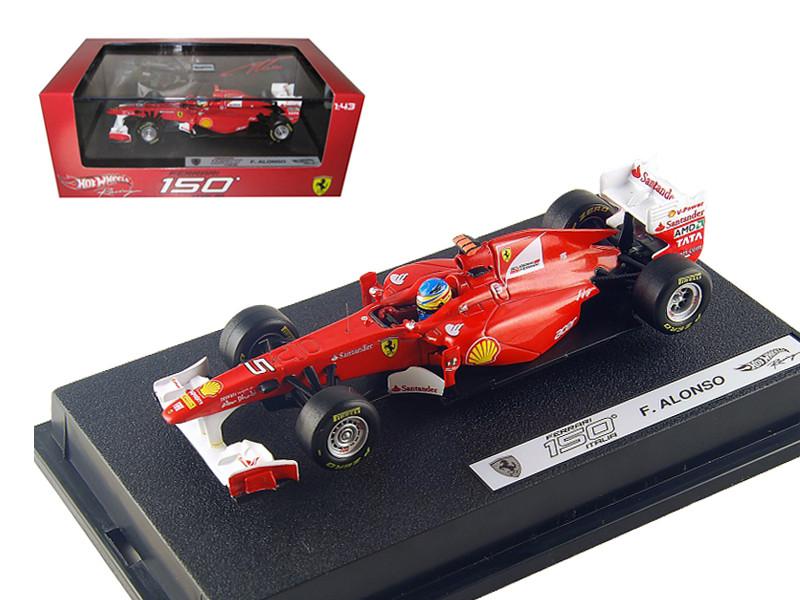 Ferrari F2011 150 Italia #5 Fernando Alonso 2011 1/43 Diecast Car Model by Hotwheels