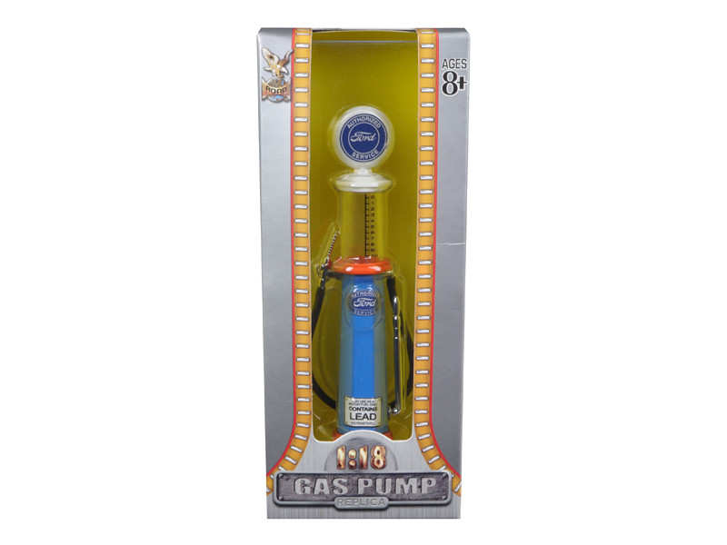 Ford Gasoline Vintage Gas Pump Cylinder 1/18 Diecast Replica Road Signature 98632