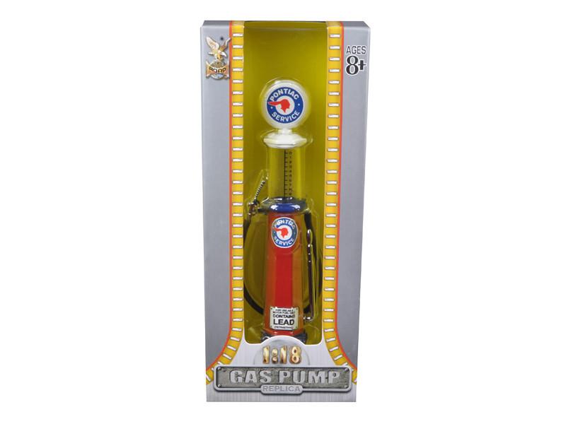 Pontiac Gasoline Vintage Gas Pump Cylinder 1/18 Diecast Replica Road Signature 98662
