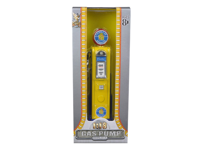 Cadillac Gasoline Vintage Gas Pump Digital 1/18 Diecast Replica Road Signature 98691