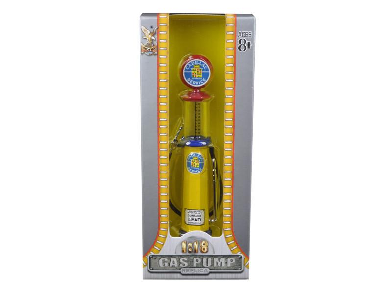 Cadillac Gasoline Vintage Gas Pump Cylinder 1/18 Diecast Replica Road Signature 98692