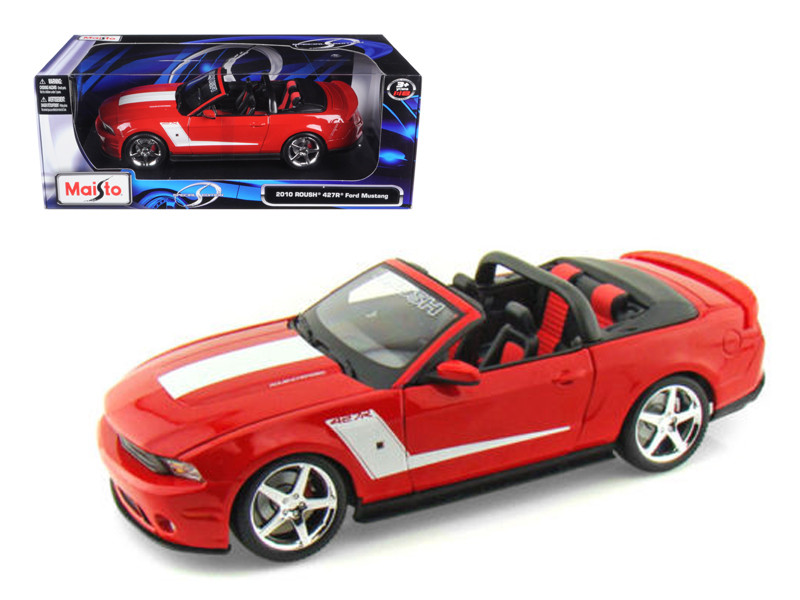 2010 Ford Mustang Convertible 427R Roush Edition Red 1/18 Diecast Model Car Maisto 31669