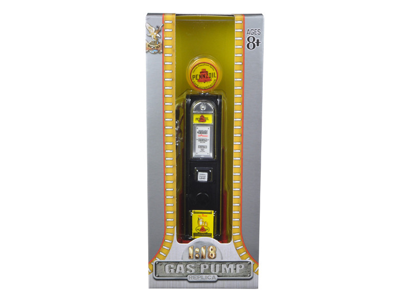 Pennzoil Gasoline Vintage Gas Pump Digital 1/18 Diecast Replica Road Signature 98791