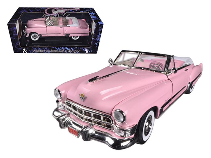 1949 Elvis Presley Pink Cadillac Coupe Deville 1/18 Diecast Car Model Motorcity Classics 48887EP