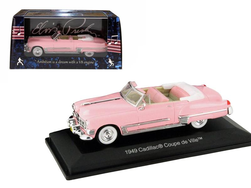 1949 Cadillac Convertible Pink Elvis Presley 1/43 Diecast Model Car Motorcity Classics  48888