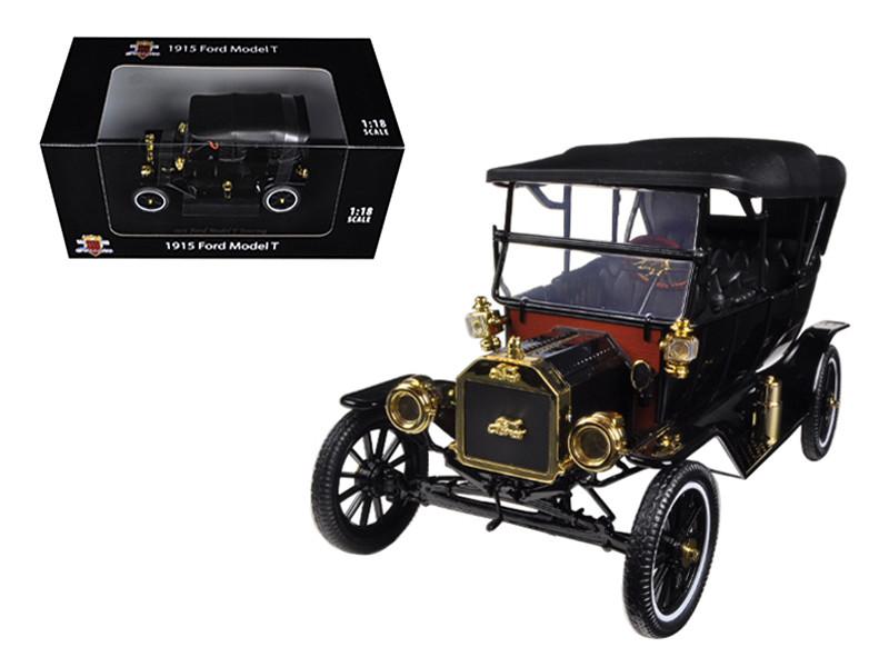 1915 Ford Model T Touring Soft Top Black 1/18 Diecast Car Model Motorcity Classics 88131