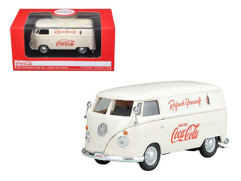 1962 Volkswagen Coca Cola Cargo Van Cream 1/43 Diecast Model Motorcity Classics 430005