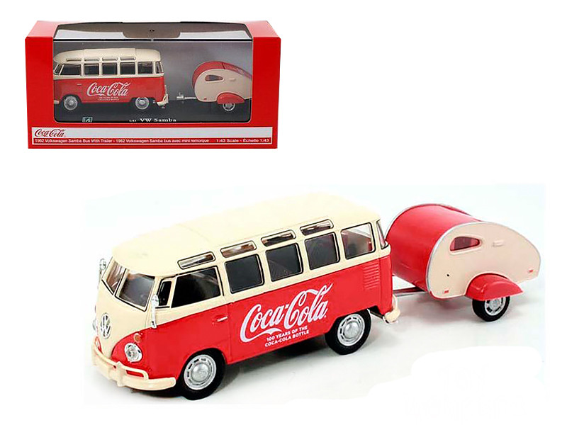 1962 Volkswagen Samba Bus 100 Years Anniversary of the Coca Cola Bottle 1/43 Motorcity Classics 467433