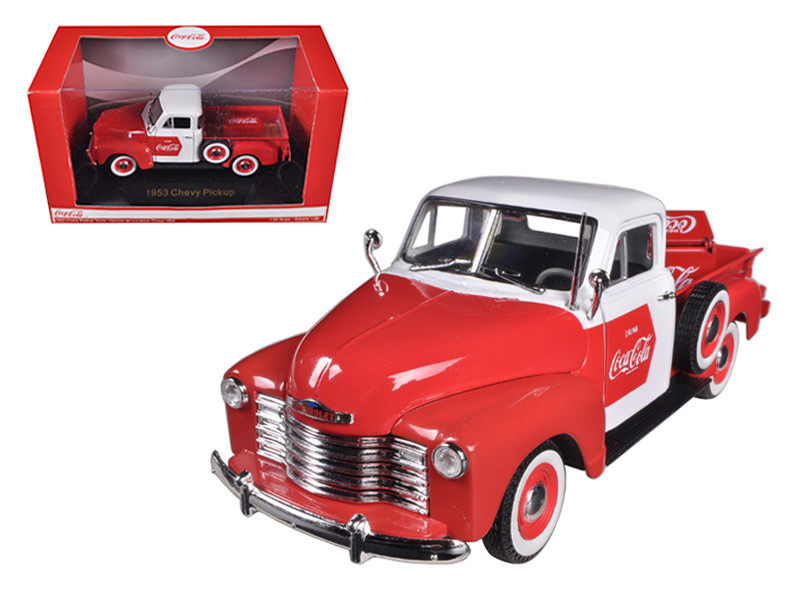 1953 Chevrolet Pickup Truck Coca Cola with Cooler 1/32 Diecast Car Model Motorcity Classics 440664