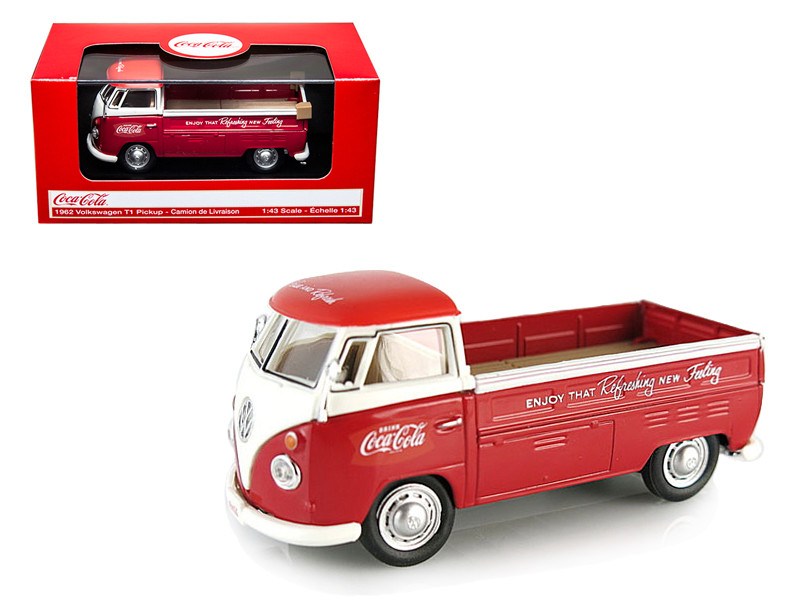 Volkswagen T1 Pickup Truck Coca Cola Red 1/43 Diecast Car Model by Motorcity Classics