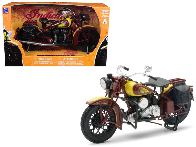 1934 Indian Sport Scout Bike Motorcycle 1/12 New Ray NR42113